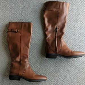 Sam Edelman brown leather riding boots